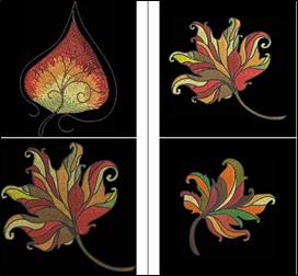 Color Wash Leaves