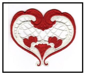 Free Heart Embroidery Design