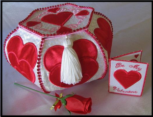 Trapunto Valentine Hearts