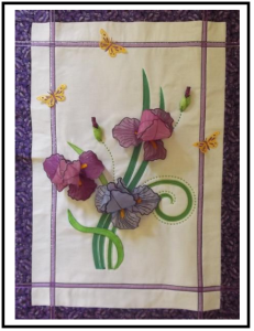 Iridescent Iris Wall Hanging