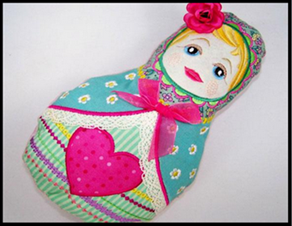 Matroyshka Doll Pillow