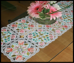Table Runner Juliette And Coasters
