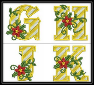 Poinsettia Alphabet