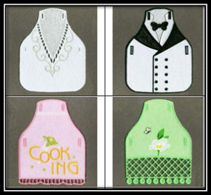 FSL Applique Bottle Apron