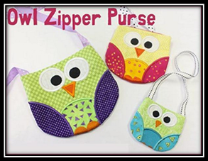 Owl Zipper Purse