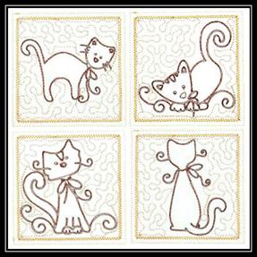 Trapunto-Cats