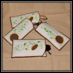 sunflower vision embroidery bag