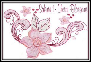 Cherry Blossoms Embroidery Designs