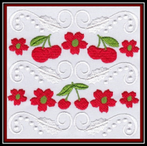 Cherry Obsession Embroidery Machine Designs