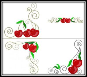 Cherry Swirls Machine Embroidery