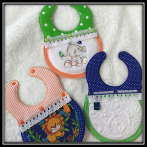 Interchangeable Baby Bibs Embroidery Machine Designs