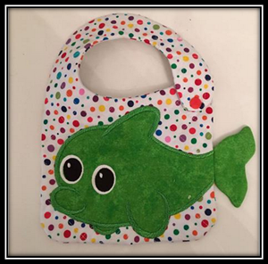 NNC ITH Fish Bib Machine Embroidery Designs