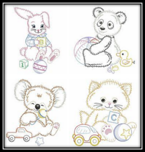 Vintage-Baby-Animals-Machine-Embroidery