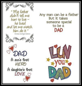 Fathersday Embroidery Designs