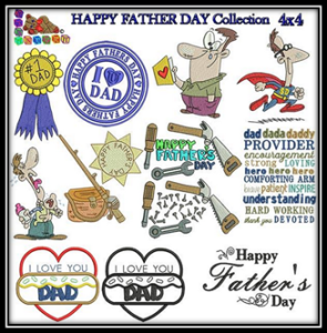 Happy Fathers Day Embroidery Collection