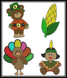 Thanksgiving Embroidery Collection