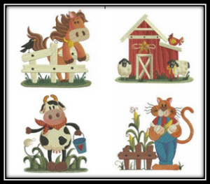 On The Farm Embroidery Designs