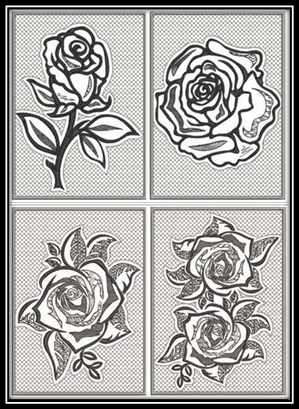 Pewter Rose Embroidery Designs