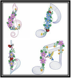 Floral-Music-Notes-Embroidery-Designs