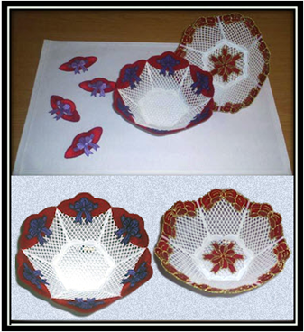 FSL Bow And Red Hat Bowls Embroidery Designs